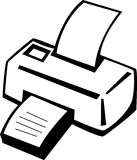 Printer machine vector illustration Stock Photos