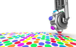 Printer make a picture closeup concept Royalty Free Stock Photography