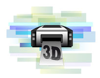 Printer making 3d products Stock Photography