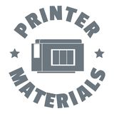 Printer materials logo, simple style Royalty Free Stock Photo