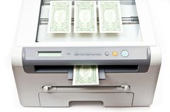 Printer and money Stock Images