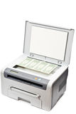 Printer and money Royalty Free Stock Photo