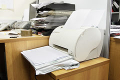 Printer in the office Stock Photo