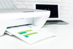 Printer, office interior Stock Image