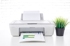 Printer, office interior Stock Photography