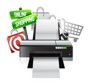 Printer online shopping concept Royalty Free Stock Photography