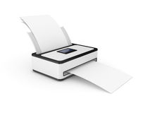 Printer with paper Royalty Free Stock Photography