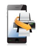 Printer phone app Stock Photos