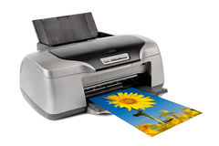 Printer. Photo inkjet printer, on white background; isolated