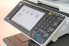 Printer or photocopier control panel Royalty Free Stock Image