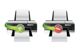 Printer plus and minus icons Stock Photo