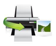 Printer and print Royalty Free Stock Photos