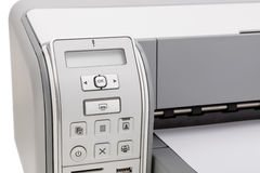 Printer for printing text . Education and office. Stock Photo