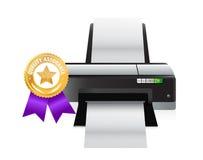 Printer quality gold ribbon Royalty Free Stock Photo