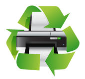 Printer recycle concept Royalty Free Stock Photos