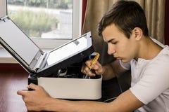 Printer repair Stock Image