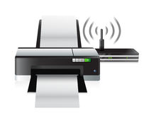 Printer and router connection Royalty Free Stock Images