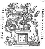 Printer's Mark of Guillaume de La Nouaille Stock Images