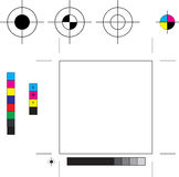 Printer's Marks Stock Photography