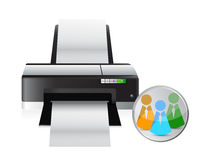 Printer social network icon Royalty Free Stock Photo