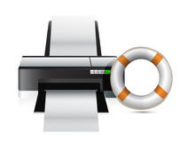 Printer sos concept Stock Photos