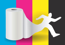 Printer sprinter Royalty Free Stock Image