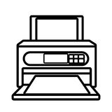 Printer technology device isolated icon. Royalty Free Stock Photos