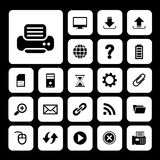 Printer and technology icon set Royalty Free Stock Image