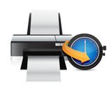 Printer timing watch clock Royalty Free Stock Photo