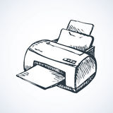 Printer. Vector drawing Stock Photography