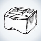Printer. Vector drawing Royalty Free Stock Photography