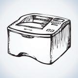 Printer. Vector drawing Royalty Free Stock Photography