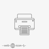 Printer vector icon Royalty Free Stock Image