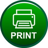 Printer web icon. Printer web button icon on isolated white background - vector illustration Stock Images