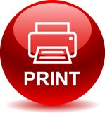 Printer web icon. Printer web button icon on isolated white background - vector illustration Stock Photo