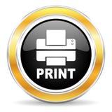 Printerpictogram Stock Foto's