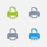 Printers - Granite Icons. A set of 4 professional, pixel-perfect icons designed on a 32x32 pixel grid Stock Image