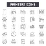 Printers line icons, signs, vector set, outline illustration concept vector illustration