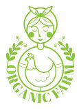 PrintFarm logotype με τη γυναίκα και το κοτόπουλο Στοκ Φωτογραφίες