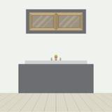 PrintFlat Design Bathtub In Bathroom Royalty Free Stock Photos