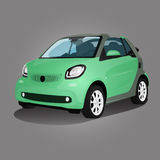 Printgreen compact vehicle vector illustration Royalty Free Stock Photo