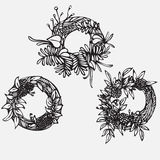 PrintHand drawn illustration. Vintage decorative lovely set of laurels, branches and wreaths. Doodle Greek ancient wreath, with la Royalty Free Stock Photo