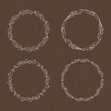 PrintHand drawn illustration. Vintage decorative lovely set of laurels, branches and wreaths. Doodle Greek ancient wreath, with la Royalty Free Stock Images