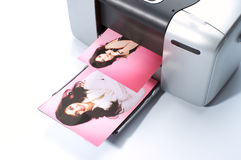 Printing colorful photos stock images