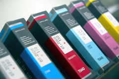 Printing colors Royalty Free Stock Photography