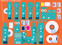 Printing and Converting Machine vector illustration