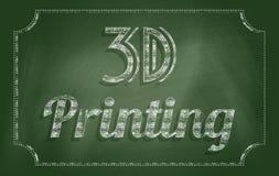 printing 3d Royaltyfria Bilder