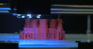 Printing 3D model of St Basil Cathedral stock video