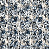 Textured printing design. Animal pattern. vector illustration