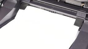 Printing documents on laser printer stock footage